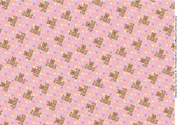 Teddies and Polka Dots Background