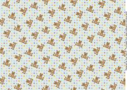 Teddies and Polka Dots Background 3