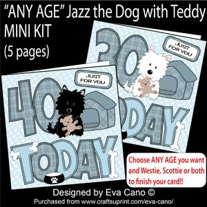'any Age' Jazz the Dog with Teddy Mini Kit