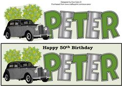 Vintage Car Peter 50th Large Dl