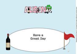 Golf Alison 30th Large Dl Insert