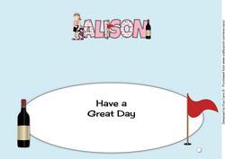 Female Golfer Alison 30th Large Dl Insert