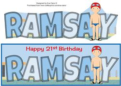 Swimmer Ramsay 21st Large Dl