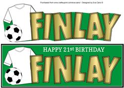 White Football Top Finlay 21st Large Dl