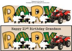 Sheep & Quad Bike Rory 21st Grandson Large Dl