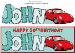 Porsche John 50th Large Dl