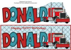 Truck Donald 50th Large Dl