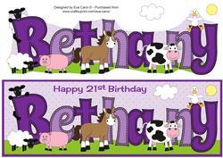 Farm Animals Bethany 21st Large Dl