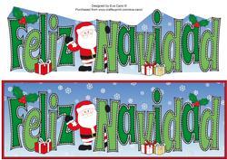 Shy Santa Feliz Navidad Large Dl