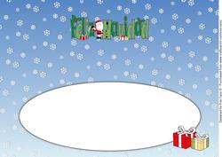 Shy Santa Feliz Navidad Large Dl Insert