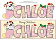 Patch 1st Xmas Chloe Large Dl