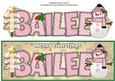 Cute Snowman Bailee Large Dl