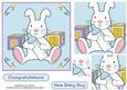 Cute Baby Bunny in Blue