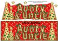 Buttons Christmas Trees Aunty & Uncle Large Dl