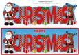 Scottish Santa & Rudolf Christmas Large Dl 2