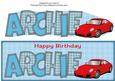 Red Porsche Archie Large Dl