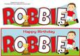 Footballer in Red & White Robbie Large Dl