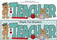 Thank You Nursery Teacher with Teddies Large Dl