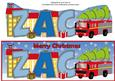 Christmas Fire Engine Zac Large Dl
