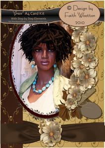 'grace' A4 Card Kit with Step by Step Layers