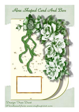 Rose Shaped Card and Box.