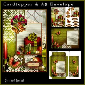 Cardtopper with Matching Envelope Christmas Present 700 699