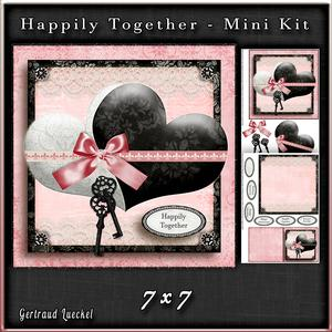 Happily Together Hearts Card Kit White Black Pink 750