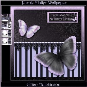 Purple Flutter Wallpaper