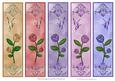 5 Roses & Butterfly Bookmarks