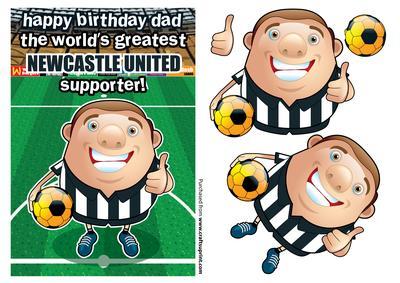 Newcastle United Football Club Happy Birthday Dad Cup_