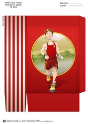 Jogger Dude (red) Mini Gift Bag