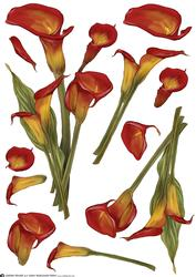 Lily Decoupage Sheet Red