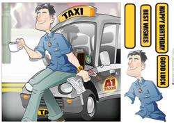 Taxi Dude Silver 8x8 Quick Card