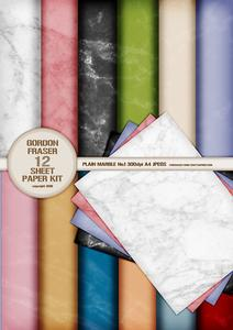 Plain Marble Athena 12 Sheet Backing Paper Kit