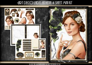 Art Deco Lady Athena Black 4 Sheet Mini Kit