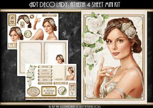 Art Deco Lady Athena Cream 4 Sheet Mini Kit