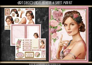 Art Deco Lady Athena Light Pink 4 Sheet Mini Kit