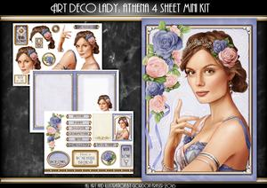 Art Deco Lady Athena Lilac 4 Sheet Mini Kit