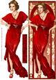 Art Deco Lady Elise (red) Large Dl