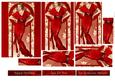 Art Deco Lady Elise (red) Pyramid