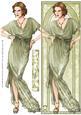 Art Deco Lady Elise (green) Large Dl