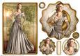Art Deco Lady Rose (brown) Topper