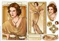 Art Deco Lady Elise Gold Topper