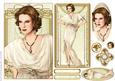 Art Deco Lady Elise Cream Topper