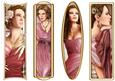 Art Deco Ladies Toppers/bookmarks Pink
