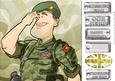 British Army Dude Green Beret 8x8 Quick Card