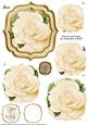 Double Curve Frame Pyramage Topper Cream Rose