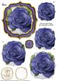 Double Curve Frame Pyramage Topper Purple Rose