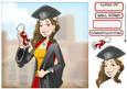 Graduation Lady 8x8 Quick Card