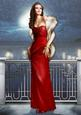 Art Deco Lady Pearl Christmas (red) A4